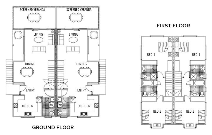 One Bedroom Villa - Floorplan