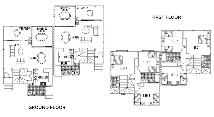 Three Bedroom Townhouse - Floorplan